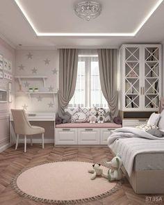 Kids Bedroom Designs, Cute Bedroom Ideas, Room Design Bedroom, Room Ideas Bedroom, Kids Room Design, Home Room Design, Bedroom Decor, Master Bedroom, Bed Room