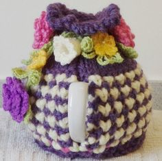 beautiful purple  small 2 cup tea cosy  hand by peerietreisures