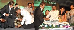 .    Amitabh Bachchan unveils Nitin Desai's book at his 25th year celebrations at the JW Marriot ...