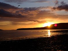 Sunset over Loch Broom from Ardmair, Scotland