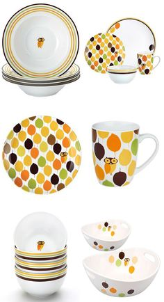 Rachael Ray: Little Hoot Dinnerware Collection. Oh, how I want these soooo bad!