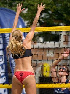 Beach Volleyball Girls, Volleyball Shorts, Vertical Jump Training, Sport Wear, Martial Arts, Girlfriends, Bikinis, Swimwear, Thong Bikini