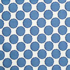 Cobalt Blue Geometric Upholstery Fabric  Woven by PopDecorFabrics