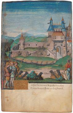 Bérault Stuart: Traité Sur l'Art de la Guerre. France before 1508. Beinecke Rare Book & Manuscript Library, Yale University. Inv. Fol. 18v