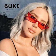 #FASHION #NEW BUKE Sunglasses Women Cat Eye Luxury Brand Designer Sun Glasses 2018 Vintage Fashion Red ladies Sunglass UV400 gafas de sol