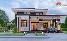 Modern House Designs, Small House Designs and More! Modern Bungalow House Design, Modern Villa Design, Bungalow Ideas, Small House Layout, Small House Design, Architect Design House, One Storey House, House Outside Design, Modern Minimalist House