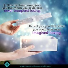 Allah will give you that, which you never imagined having! ❤️ #Islam #Faith