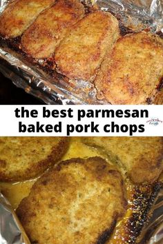 Pork Recipes this is the original parmesan baked pork chops recipe - aka the best pork chop r. Best Pork Chop Recipe, Easy Pork Chop Recipes, Pork Recipes, Cooking Recipes, Recipes With Pork Chops, Healthy Cooking, Asian Recipes, Easy Baked Pork Chops, Breaded Pork Chops