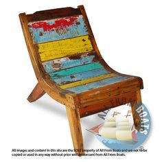 Bali boat relax chairs are made from recycled, reclaimed boat wood from bali boats. Boat Furniture, Recycled Furniture, Colorful Furniture, Fine Furniture, Pallet Furniture, Painted Furniture, Boat Bed, Wholesale Furniture, Lounge Seating