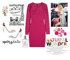 """""""A night in Paris"""" by soniaaicha ❤ liked on Polyvore featuring Clinique, Halston Heritage, philosophy and Gianvito Rossi"""