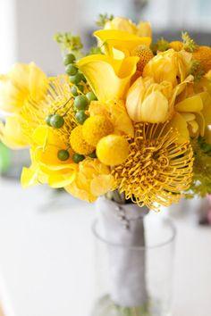 yellow flowers, bouquet - gelbe Blumen, Strauß