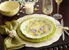 Could this be an everyday place setting?  Especially if your kitchen decor is French Country?