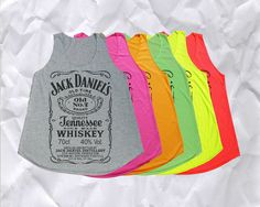 Jack Daniels Tank Top T Shirt Women TShirt Size S M by Rock4Ever, $13.00  want in black or white!