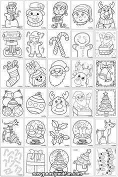 christmas printables Jolly-Printable-Christmas-Coloring-Pages-for-Kids Colorful Christmas Tree, Christmas Crafts For Kids, Christmas Colors, Christmas Art, Simple Christmas, Christmas Nativity, Christmas Cookies, Printable Christmas Coloring Pages, Christmas Coloring Sheets