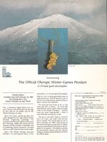 Roni Winter Olympic Raccoon Pendant 1980 Ad Picture
