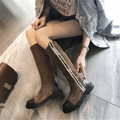 Tide Fahsion Brand Autumn and Winter Women Snow Boots Warm Leather Casual Female Short Boots Short Boots, High Boots, Black Boots, Shoes Sneakers, Shoes Heels, Female Shorts, Snow Boots Women, Casual Boots, Riding Boots