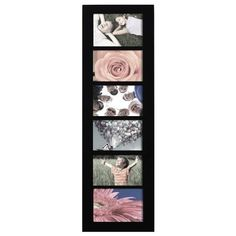 Adeco PF0167 Decorative Black Wood Wall Hanging Collage Picture Photo Frame 6 Openings 4x6 inches >>> Click image to review more details.