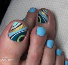 Pretty Toe Nails, Cute Toe Nails, Fancy Nails, Bling Nails, Toe Nail Color, Toe Nail Art, Pedicure Designs, Toe Nail Designs, Feet Nails