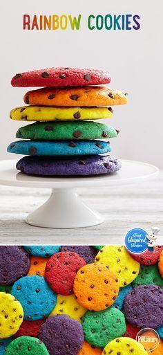 Kekse, einfach Kekse in den Regenbogenfarben... .