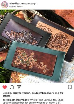 Leather Carving, Leather Tooling, Leather Factory, Leather Craft, Shoulder Bag, Wallet, Handmade, Bags, Stitching