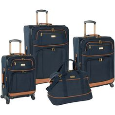 It's finally time to sit back and unwind with the Tommy Bahama Mojito 4 Piece Expandable Spinner Luggage Set. Featuring the ability to expand for added packing capacity, a four wheel spinner system fo