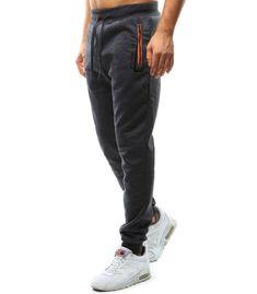 Antracitové pánske teplákové nohavice Sweatpants, Fashion, Moda, Fashion Styles, Fashion Illustrations