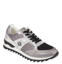 #bugatti #Sneaker, #Reptilien-Print, #Glitzer, #Mesh-Einsatz - Extravagante…