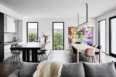 Mim Design, Smart Design, Dark Blue Walls, Interior Architecture, Interior Design, True Homes, Al Fresco Dining, Color Tile, Scandinavian Interior