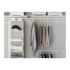 IKEA - MULIG, Clothes bar, white, Can be used anywhere in your home, even in damp areas like the bathroom and under covered balconies. The width can be adjusted to suit your needs. Combines with other products in the MULIG series.