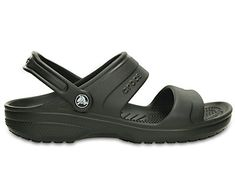 It's like wearing a Classic Clog with the top down — this sandal version gives you all of the comfort you're looking for with an airy, open design. It's made with our Croslite™ foam so it's lightweight and has all-day cushion. It's not afraid to get wet either, so it's great at pool, beach or beyond. The two-strap style with heel strap gives a secure fit. Free shipping on qualifying orders.