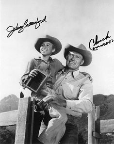 johnny crawford, Chuck Connors - signed I Fall In Love, Falling In Love, Chuck Connors, Johnny Crawford, The Rifleman, Time Series, Television Program, Prime Time, Johnny Was