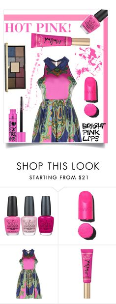 """Bright Pink Lipstick"" by gold-candle23 ❤ liked on Polyvore featuring beauty, OPI, Chanel, Lavand., Too Faced Cosmetics and Ciaté"