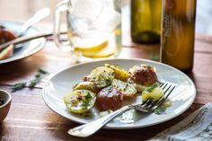 balsamic vinaigrette potato salad - Jelly Toast