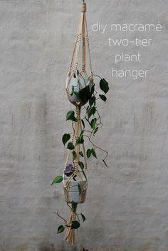 Two Tier Macrame Plant Hanger DIY