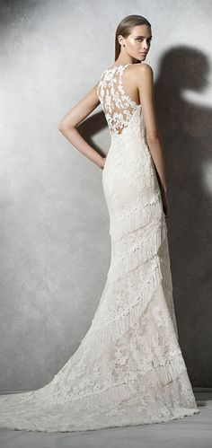 pronovias pladia lace tassel wedding dresses 2016 trends