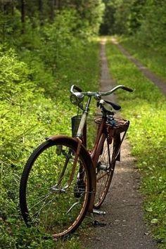 Bike on the path...