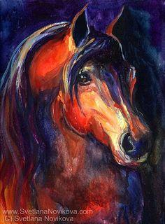 arabian horse painting by www.SvetlanaNovikova.com, via Flickr