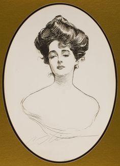 CHARLES DANA GIBSON (American, 1867-1944). Gibson Girl
