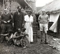 Marcel Griaule(?),Zar Malkam, Abba Jerome, Michel Leiris-1934