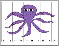 Ocean Life Counting Puzzles - Common Core Aligned