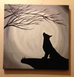 Name Your Price   Lone Wolf II12 X 12  Acrylic   by DLBArtShop, $30.00