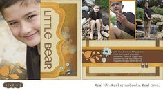 Great scrapbooking patterns with large focal photos at www.StudioJ.com. #StudioJ