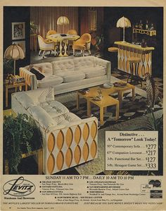 LEVITZ / A TOMORROW LOOK TODAY! OH MY, we had the couch and end tables. They were butter soft and surprisingly pretty.