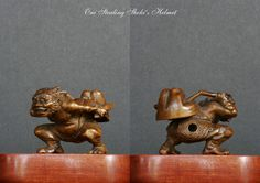 From my collection- Wood-Oni steeling Shoki's Helmet