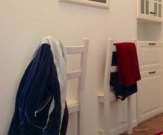 How to Use Half a Chair to Hang Clothes in the Evening - Snapguide- Ikea IVAR chair