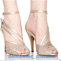 Brand New Ladies Latin Ballroom Salsa Dance Shoes 8.5cm High heeled Shoes US5-8
