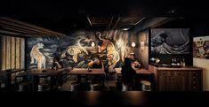 Japanese Restaurant Interior, Restaurant Design, Restaurant Bar, Japan Fashion, Interior Design, Behance, Painting, Japan Style, Mood Boards