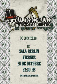 Carlitos Gonçalves y Los Camachuelos @ Sala Berlin - Ourense música concerto concierto