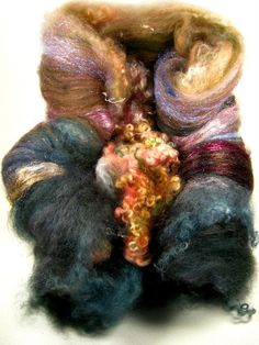 Milky Way Wild Card Bling Batt for Spinning and by yarnwench, $30.00