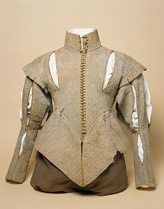 Doublet from England, first half of 17th century. Now in a museum in Manchester. I'm having it copied, while I will make buttons and buttonholes. It is a linen doublet covered in embroidery.